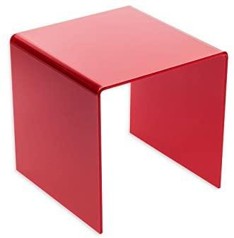 Source One Premium 8x8x8 Inch Square Acrylic Riser (S1-8x8x8-Riser) (Red)