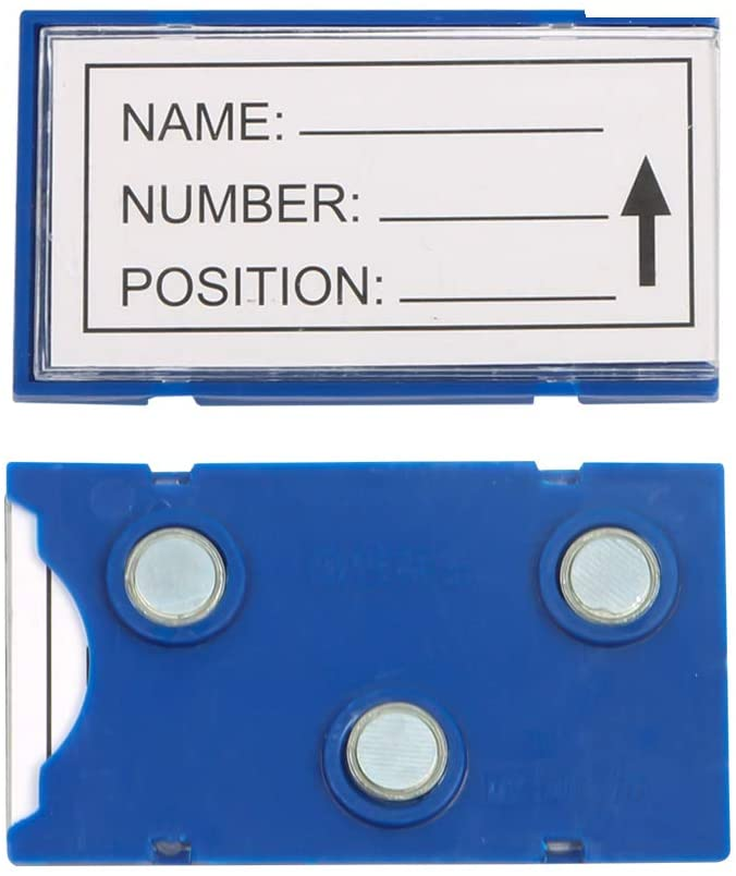 WJQXFQ Magnetic Label Clip, Label, Warehouse Material Card, Magnetic Data Card with Magnetic Label, NdFeB Permanent Magnet, Strong Magnet, Pack of 20 (1.572.76inch(3 Magnet))