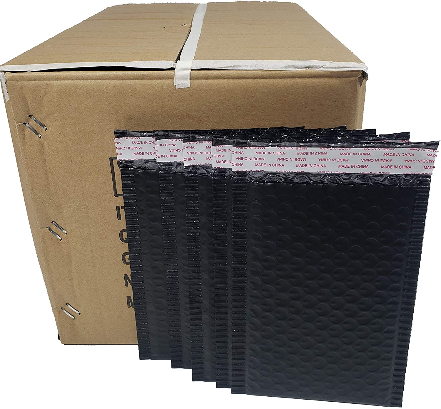Pack of 260 Pieces in One Box 5 x 8 Inches Usable Size Black Poly Padded Bubble Mailers Envelopes
