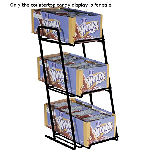 Steel Countertop Boxed Candy Display - 6.25 W x 6.5 D x 13.5 H Inches