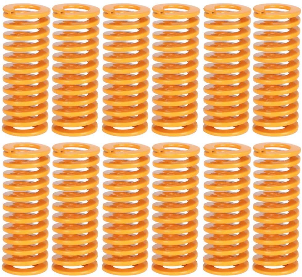 iplusmile 12pcs Heated Bed Springs Die Springs Load Compression Spring for 3D Printer (Orange)