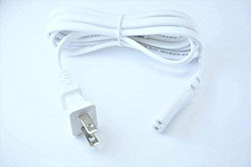 [UL Listed] OMNIHIL White 5 Feet Long AC Power Cord Compatible with VANKYO Leisure 430 Projector