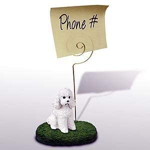 1 X Poodle Note Holder (White Sport cut)