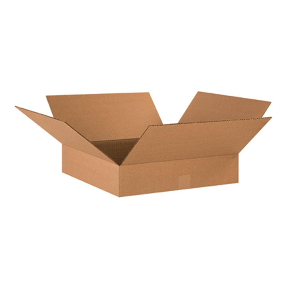 Aviditi 17174 Flat Corrugated Cardboard Box 17