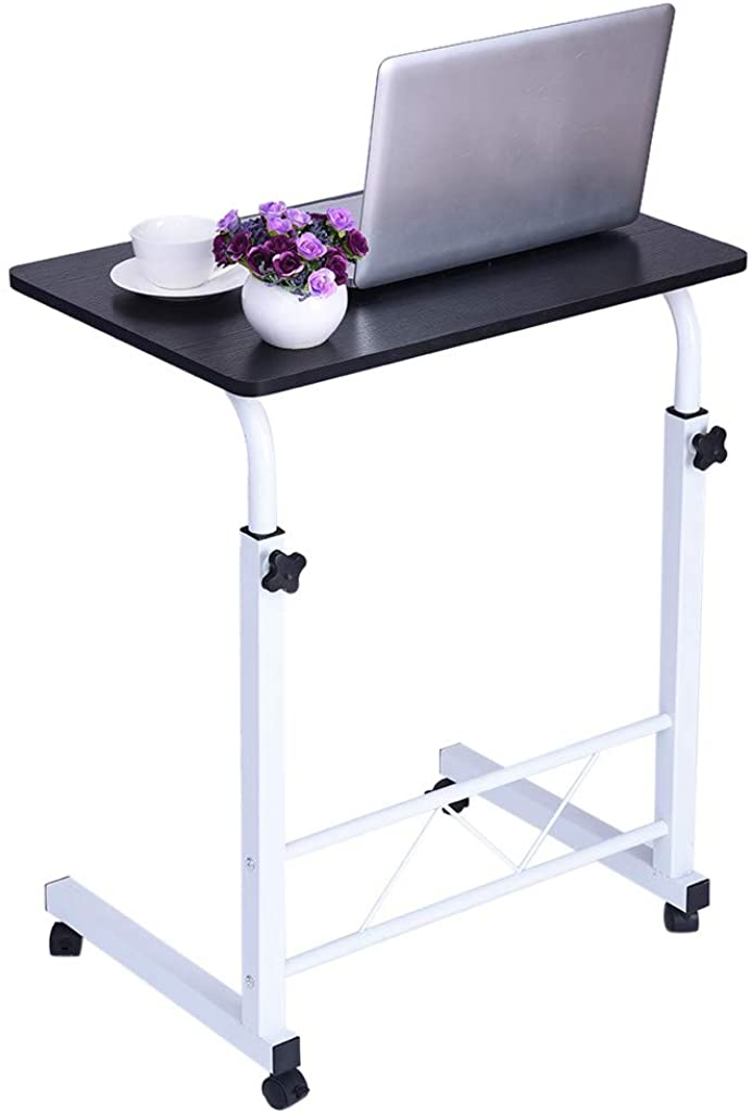 Home Office Chair Can Be Lifted and Lowered Mobile Computer Desk Bedside Table, Portable Standing Desk