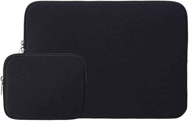 RAINYEAR 15 Inch Laptop Sleeve Protective Case Computer Bag Cover with Accessories Pouch,Compatible with 2019 2020 New Model 15.4 MacBook Pro/Retina/Touch Bar Specially for A1938 A1707 A1990(Black)