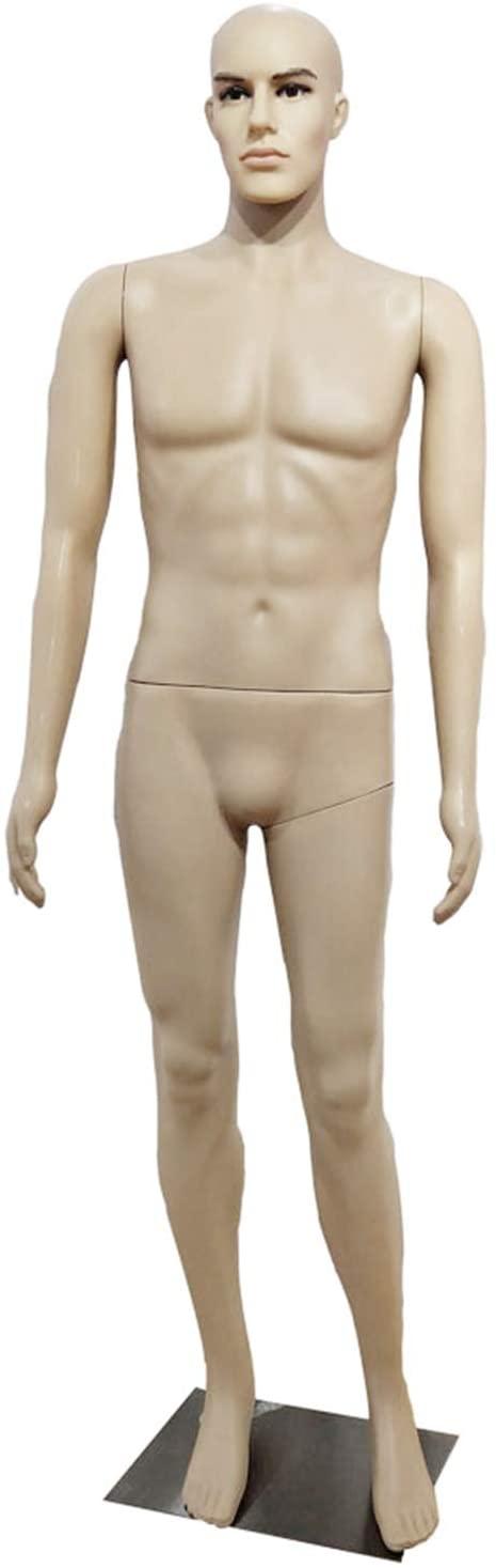 Male Straight Hand Straight Foot Body Model Skin Color - Mannequin Torso Dress Form Dress Model Full Body Plastic Detachable Mannequin Stand Metal Base