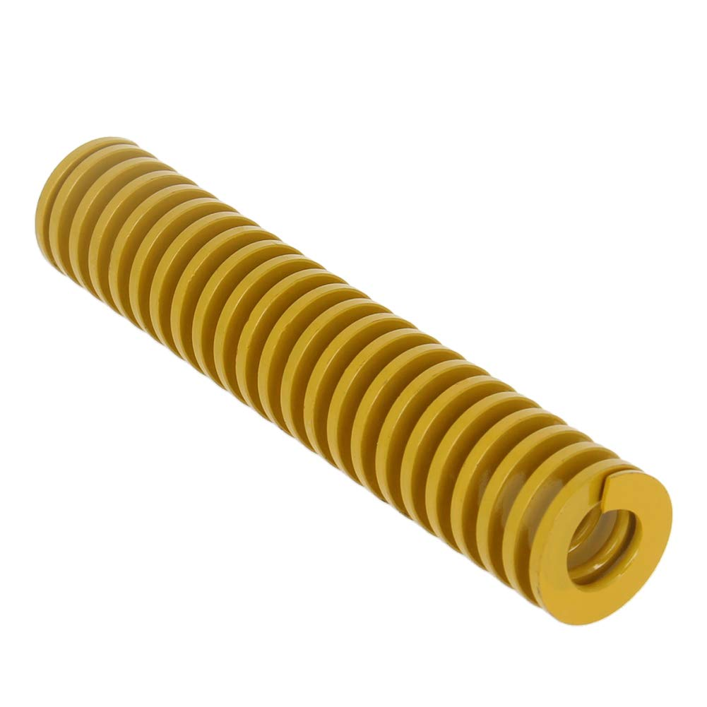 MroMax 18mm OD 90mm Long Spiral Stamping Light Load Compression Mould Die Spring Yellow 1PCS