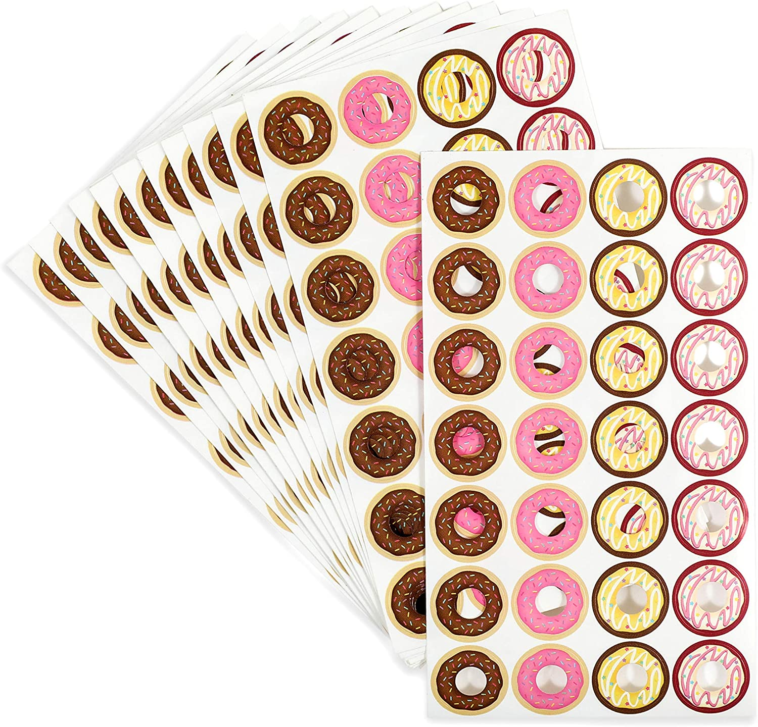 Hole Punch Stickers, Mini Donuts Reinforcement Labels (0.5 in, 1008 Pack)