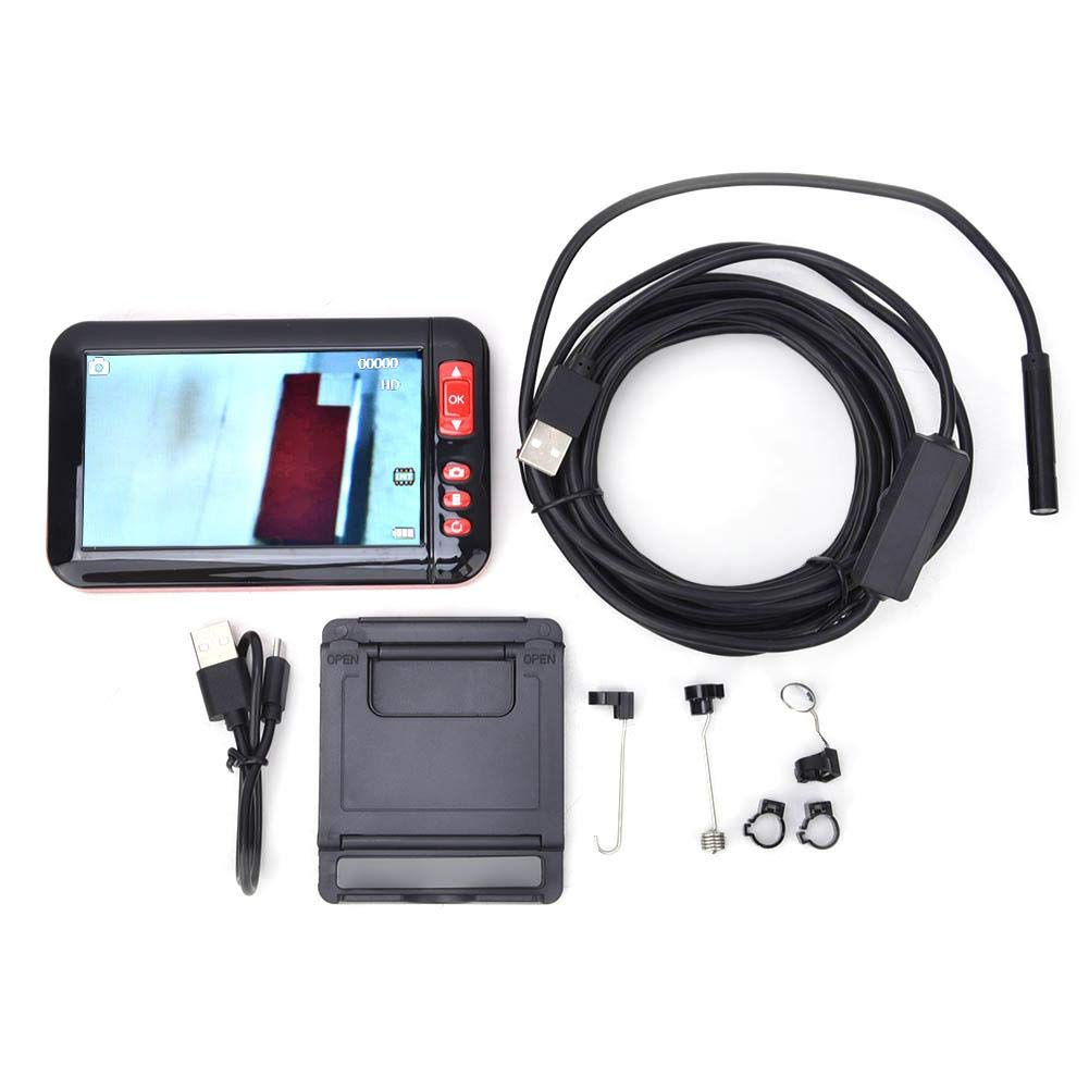 Industrial Endoscope with Screen, HD 1080P 4.3in ScreenProfessional Micro Video Inspection Camera Inspection Camera Endoscope Camera with 5m Hardwire