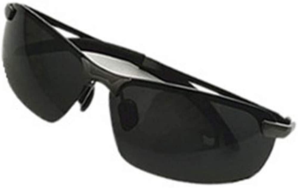 Photochrommic Lens Polarized Light Night Driving Movement Sunglasses Al-Mg Light