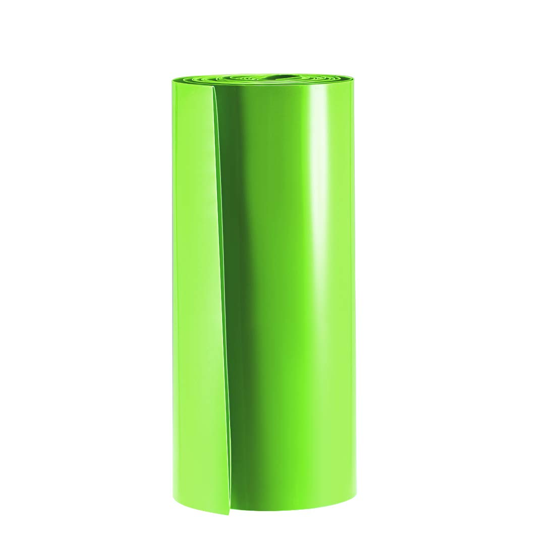 uxcell Battery Wrap, 210mm Flat Width 133mm Dia 3 Meters PVC Heat Shrink Tube Wraps for Big Battery Pack Green