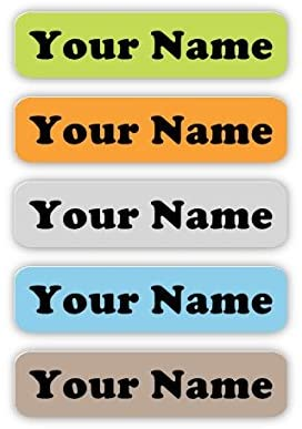 60 Personalized Iron-on Custom Name Tag Labels for Clothing (Urban Palette Theme) - Permanent - No-Sew - Laundry Safe