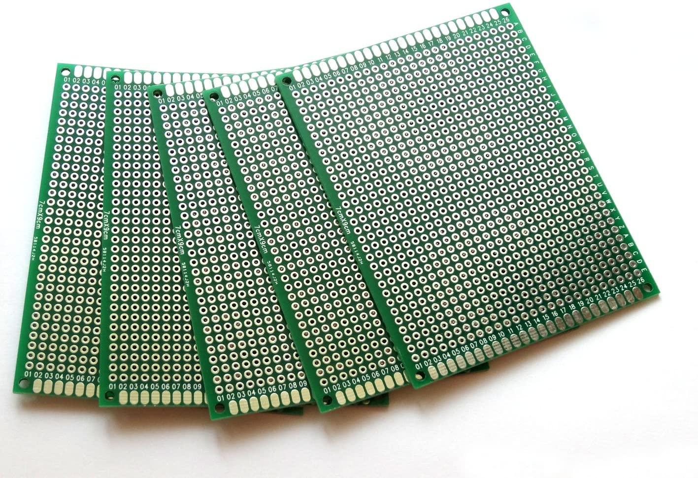 Penta Angel 10pcs Double-Side Prototype PCB Universal Printed Circuit Board Universal PCB Circuit Board (7x9cm)