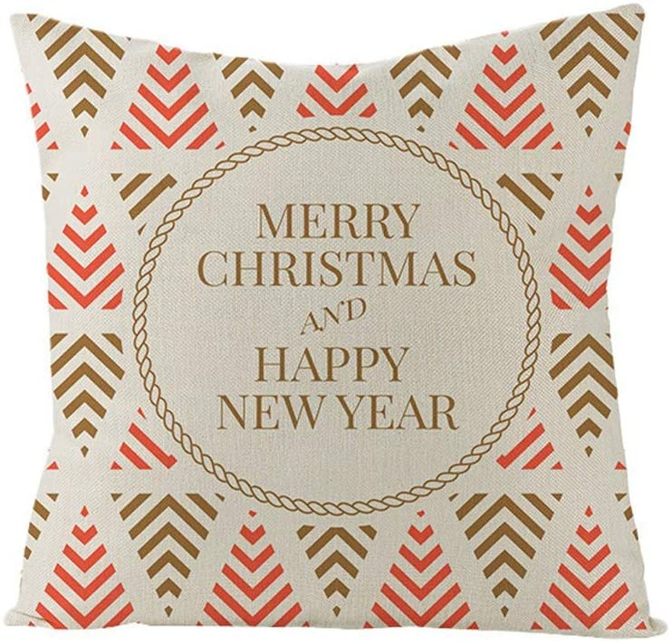 Ounabing 18X18 Inch Christmas Plush Fall Throw Pillow Covers Cushion Case for Home Decor Sofa, Couch, Bed and Car,Living Room,Breathable and Super Soft Pillowcase