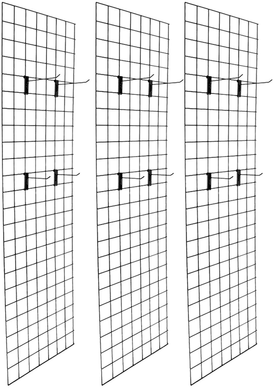 RBtoday Artisasset 3 Piece 5mm Iron Mesh Frame Black - Wire Wall Panel, Photo Wall for Photo Hanging Hat Display Metal Wall Storage