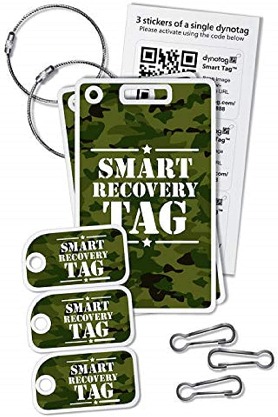 Dynotag CAMO Deployment Kit: A Starter Assortment of Our Popular Smart Tags with DynoIQ & Lifetime Recovery Service!