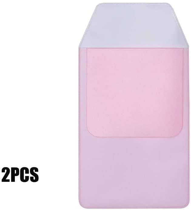 PVC Hospital School Office Supplies Nurses Pen Bag Pouch Pocket Protector Pen Case Leak-Proof Pen Pouch(2pc,pink)