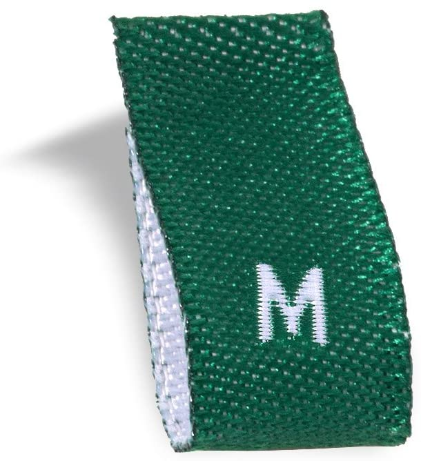Wunderlabel Adult Size Label Woven Crafting Craft Art Fashion Ribbon Ribbons Tag for Clothing Sewing Sew on Clothes Garment Fabric Material Embroidered Label Labels Tags, Green, M 50 Labels