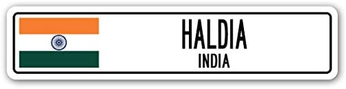 HALDIA, India Street Sign Indian Flag City Country Road Wall Gift