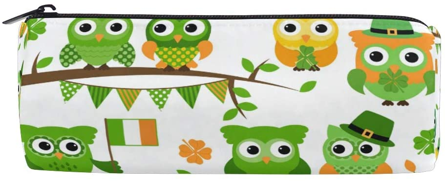 CCDMJ Cartoon Bird Owl Tree Pen Pencil Case Bag Holder Zipper Organizer Students Stationery Bags Makeup Brush Pouch for Kids Girls Boys School Office Supplies