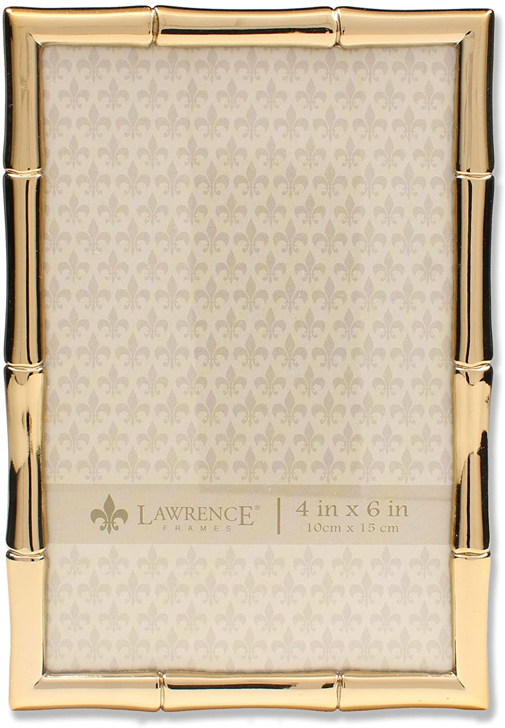 Lawrence Frames 4x6 Gold Metal Bamboo Design Picture Frame