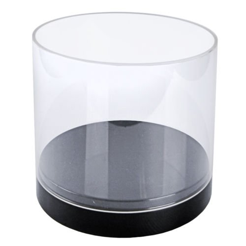 Clear Acrylic Deluxe Cylinder Showcase 10D x 10H Inches