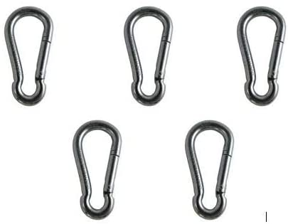 US Galvanized 5 Pieces Zinc Plated Spring Hook Without Eyelet 1/4