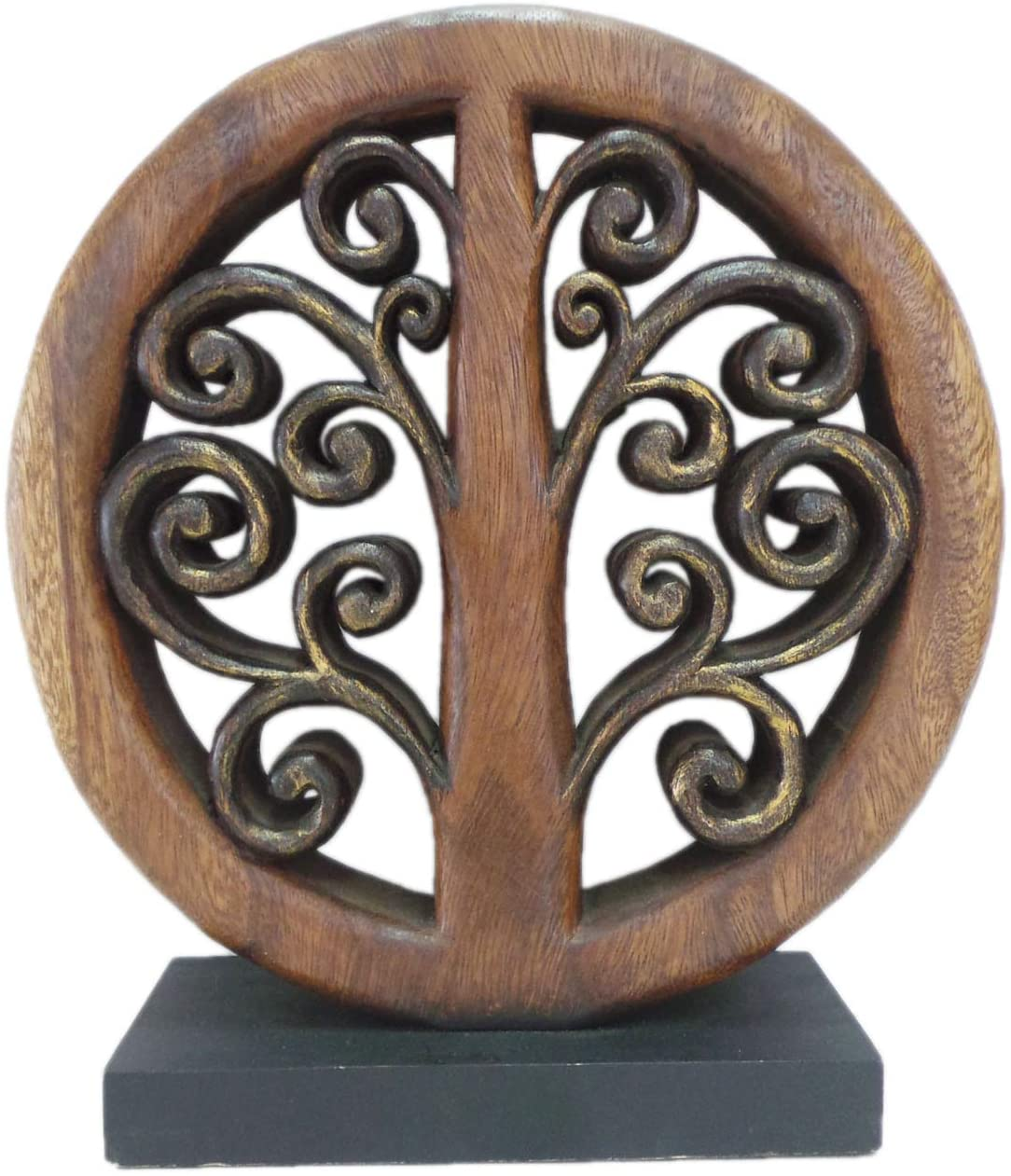 Decozen Handmade Wooden Tree of Life Décor a Symbol of Growth and Strength Made by Skilled Artisans for Farm House Home Decor Living Rooms Bedroom Kitchen Console Table 4x11x12 in