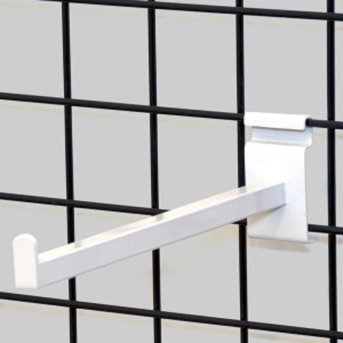 Square Tubing Faceout for Gridwall in White 12 Inch - Box of 8