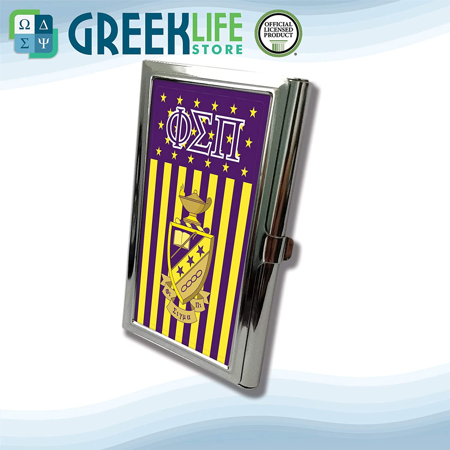 Phi Sigma Pi Business Card Holder Stainless Steel