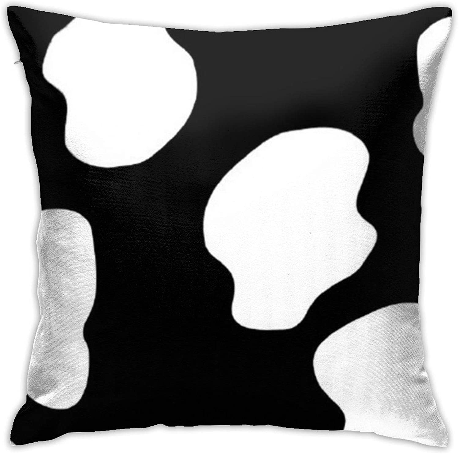 "Cow Black and White Pattern Throw Pillow Covers, Pillow Case Cushion Cover for Sofa Couch Decor 18""x 18""Inch"
