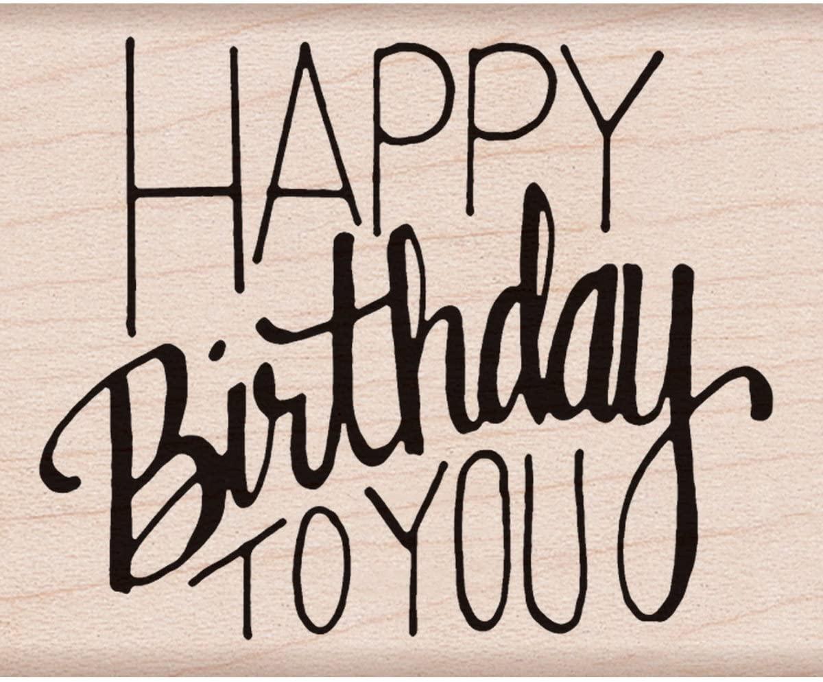Hero Arts F6068 Woodblock Stamp, Happy Birthday to You