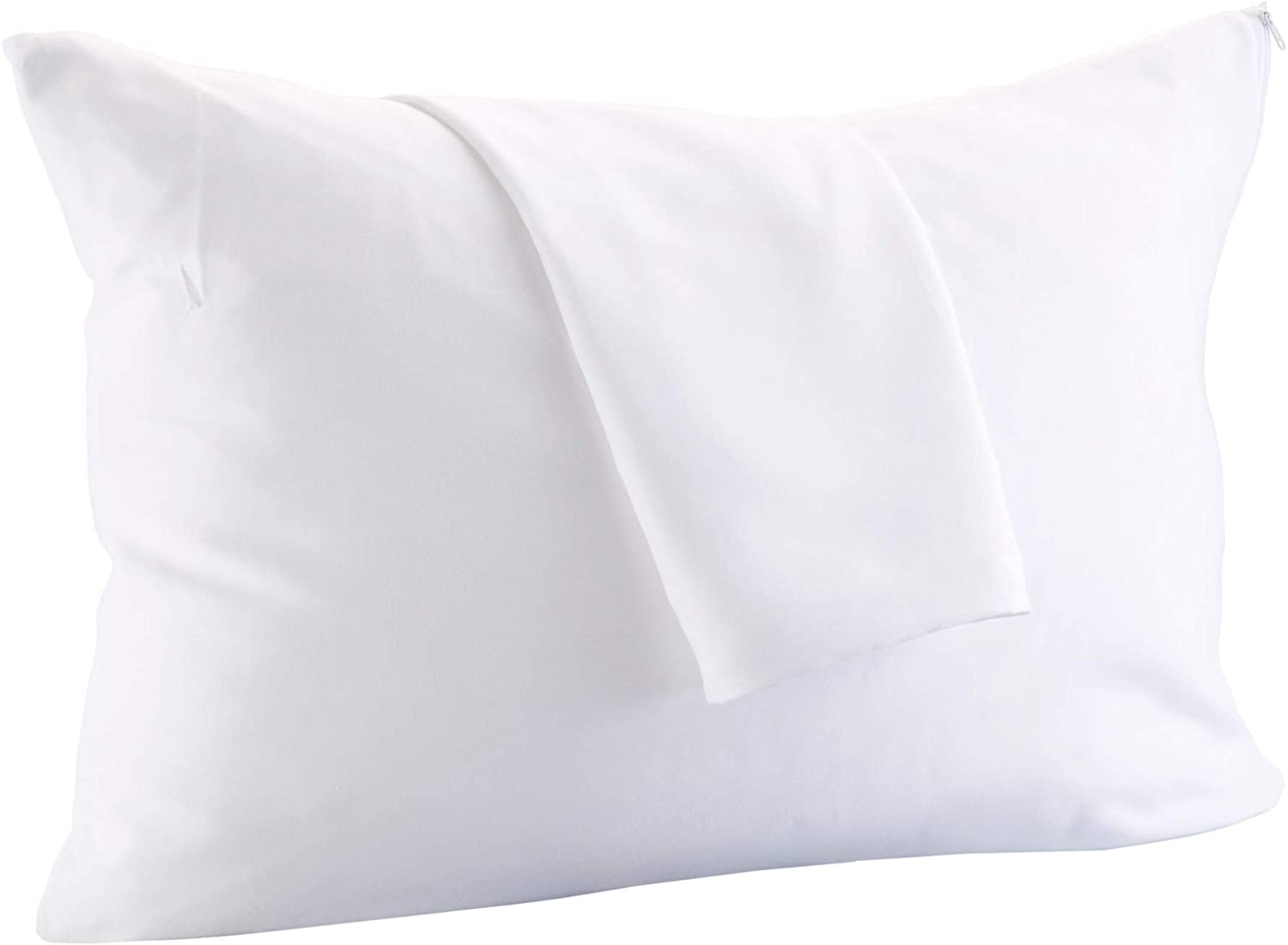 Great Bay Home 8-Pack 100% Cotton Pillow Protectors. 400 Thread Count Hypoallergenic Pillow Cover. Dust Mite, Bed Bug Cover, Zippered Pillow Protectors.(King)