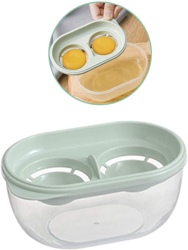 Egg White Separator Yolk Filter Storage Box Plastic Kitchen Gadget Cooking Tool Beater Extractor