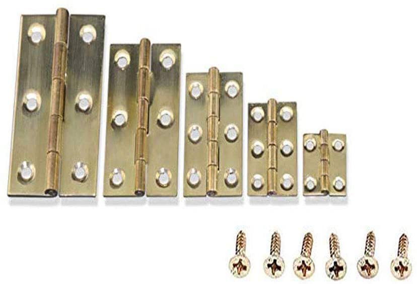 Lheng 2 Inch Butt Hinges for Cupboard Cabinet Home Furniture Hardware Door Folding Butt Hinge Copper Tone 4 Pcs