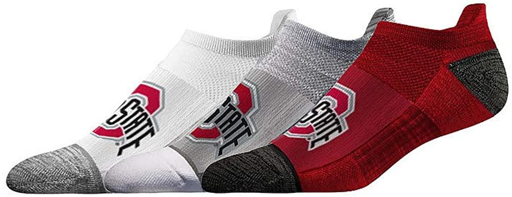 Elite Fan Shop NCAA Men's No Show Sock 3-Pack (6 Total Socks)