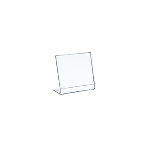 Acrylic Clear L-Shaped Sign Holder 5W x 6H Inches - Box of 10