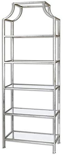 Uttermost Aurelie 5 Shelf Etagere in Silver