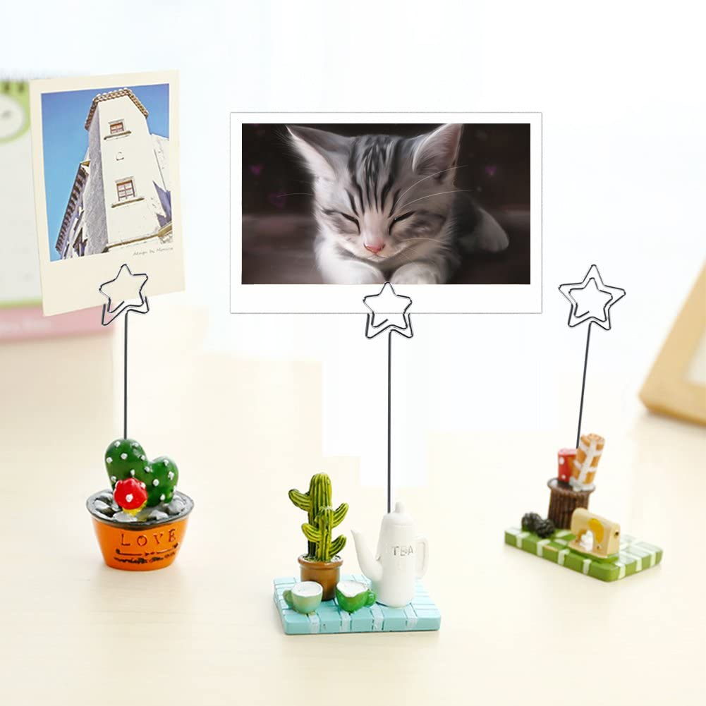 Gojiny Card Holder Stands, 50 x Silver DIY Craft Photo Card Picture Memo Paper Note Display Clip Holders