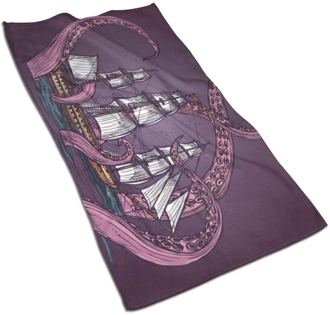 ~ Towels, Small Bath Towel Kitchen Tea Towels Home Bathroom Decorations 27.5 X 15.7 Inches-Fantasy Design Giant Monster