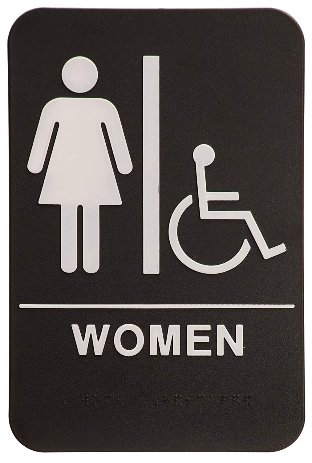 On Top Awards - Women's Bathroom Sign with Wheelchair Accessible 6