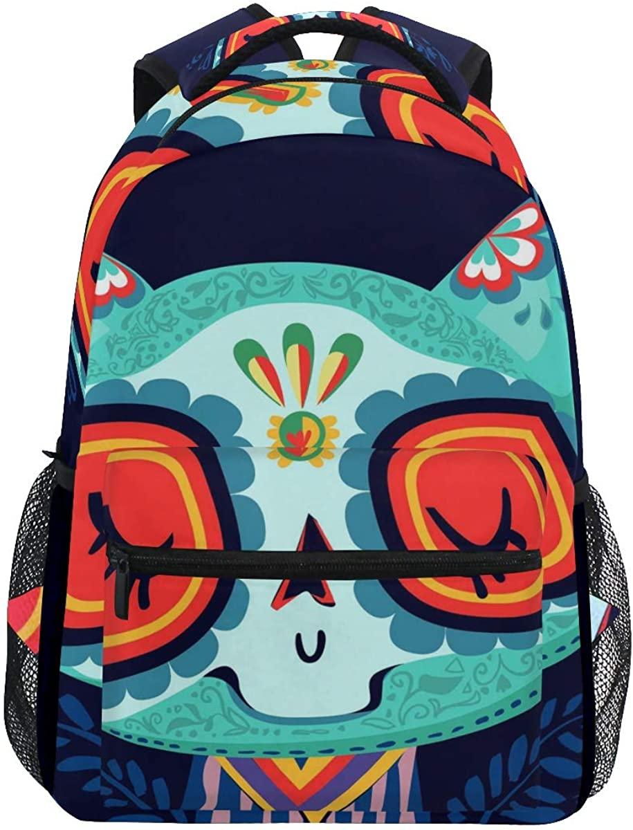 School Backpack Cat Decor Bookbag for Boys Girls Teens Casual Travel Bag Computer Laptop Daypack