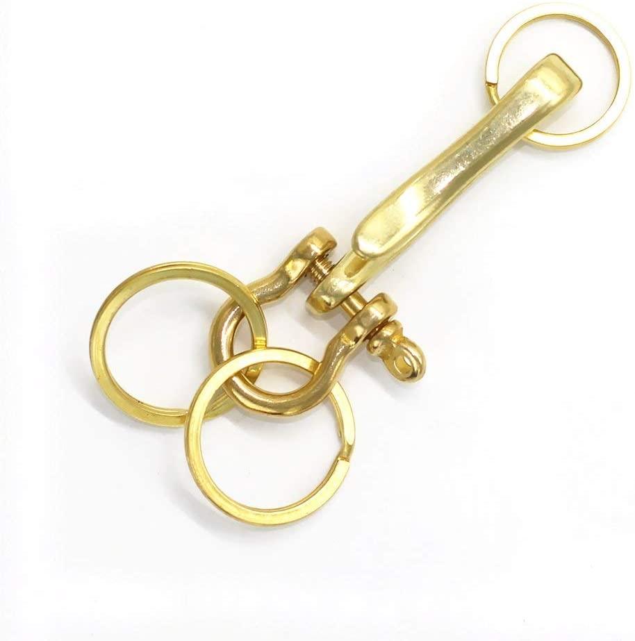 M-W Solid Brass Detachable KeyChain Key Hook Key Ring Key Holder