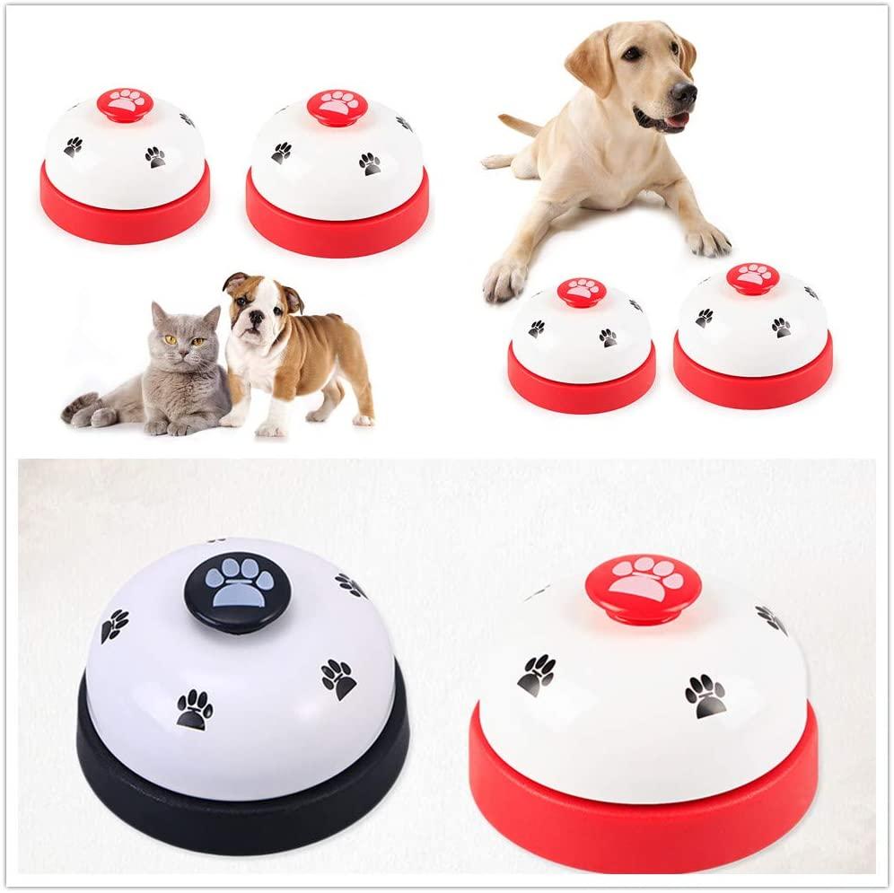 POPETPOP 2Pc Puppy Training Bells Footprint Pattern Small Durable Puppy Training Bells for Training Dogs Puppy