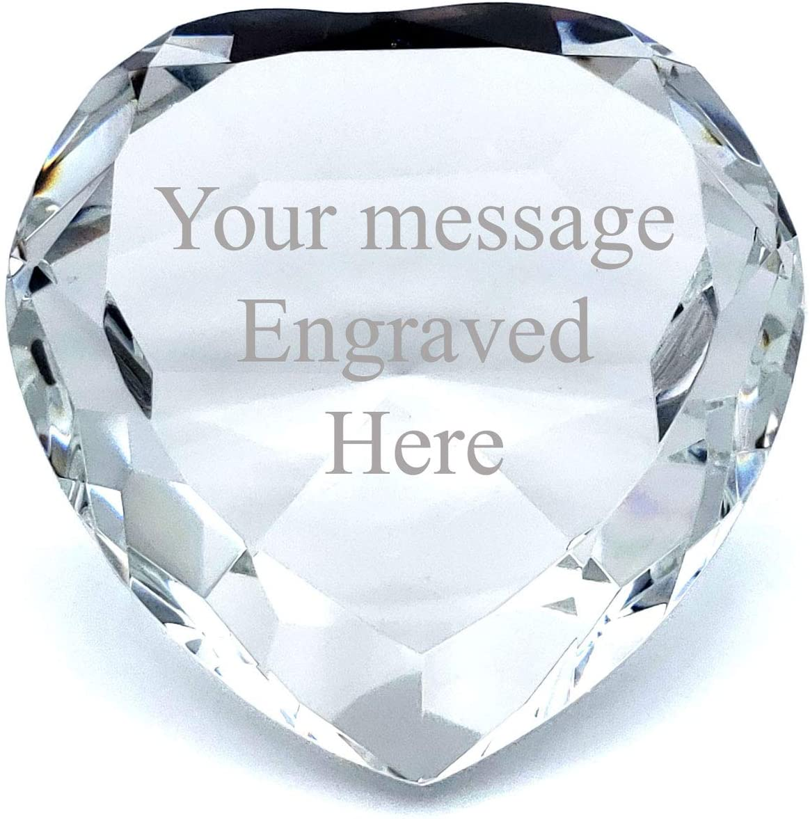 Personalized Crystal Diamond Engraved Paperweight (HT-Clear)