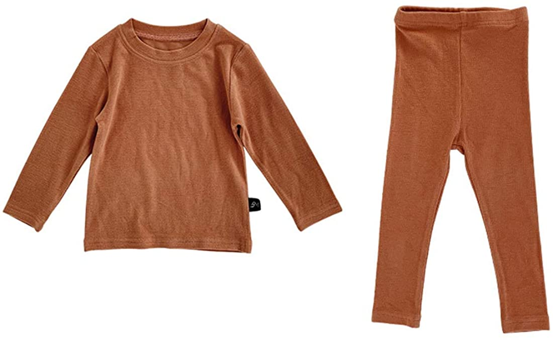 12M-7T Kids Unisex Girls & Boys Thermal Underwear Toddler Snug-Fit Pajamas Set Winter Long Sleeve Warm Jammies