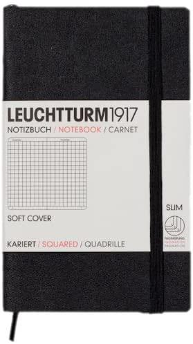 Leuchtturm1917 Notebook Pocket A6 Softcover Squared - Black