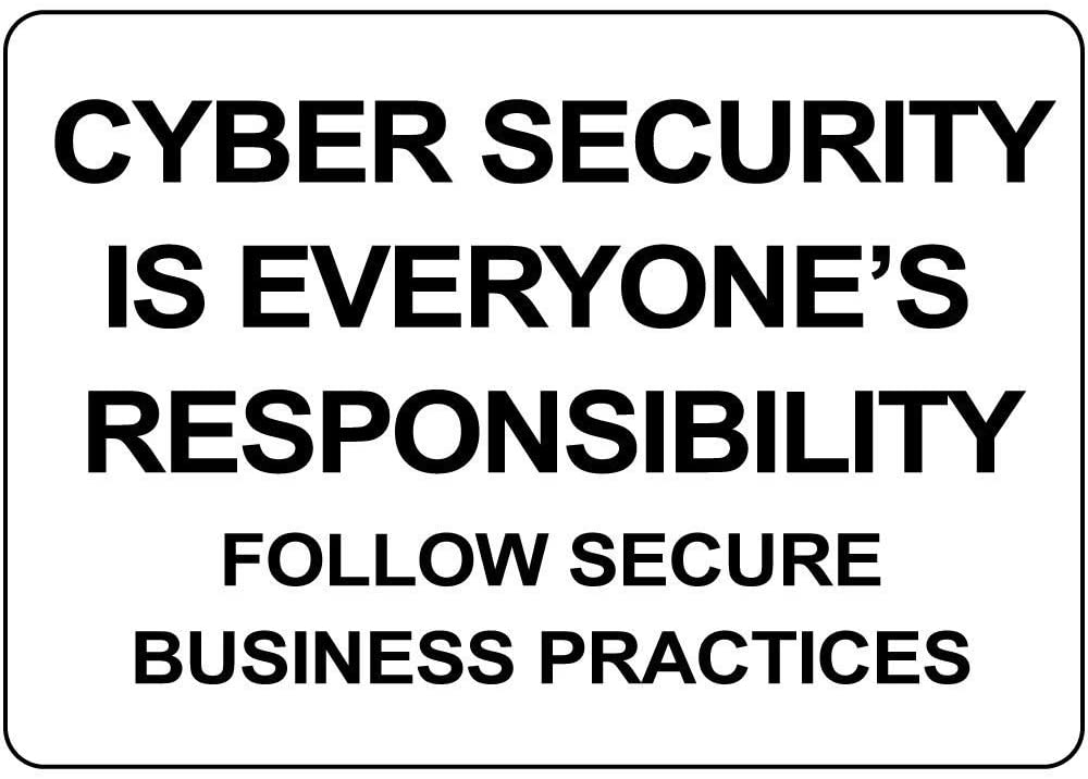 Cyber Security Everyone Responsibility Secure Practice Vinyl Sticker Decal 8