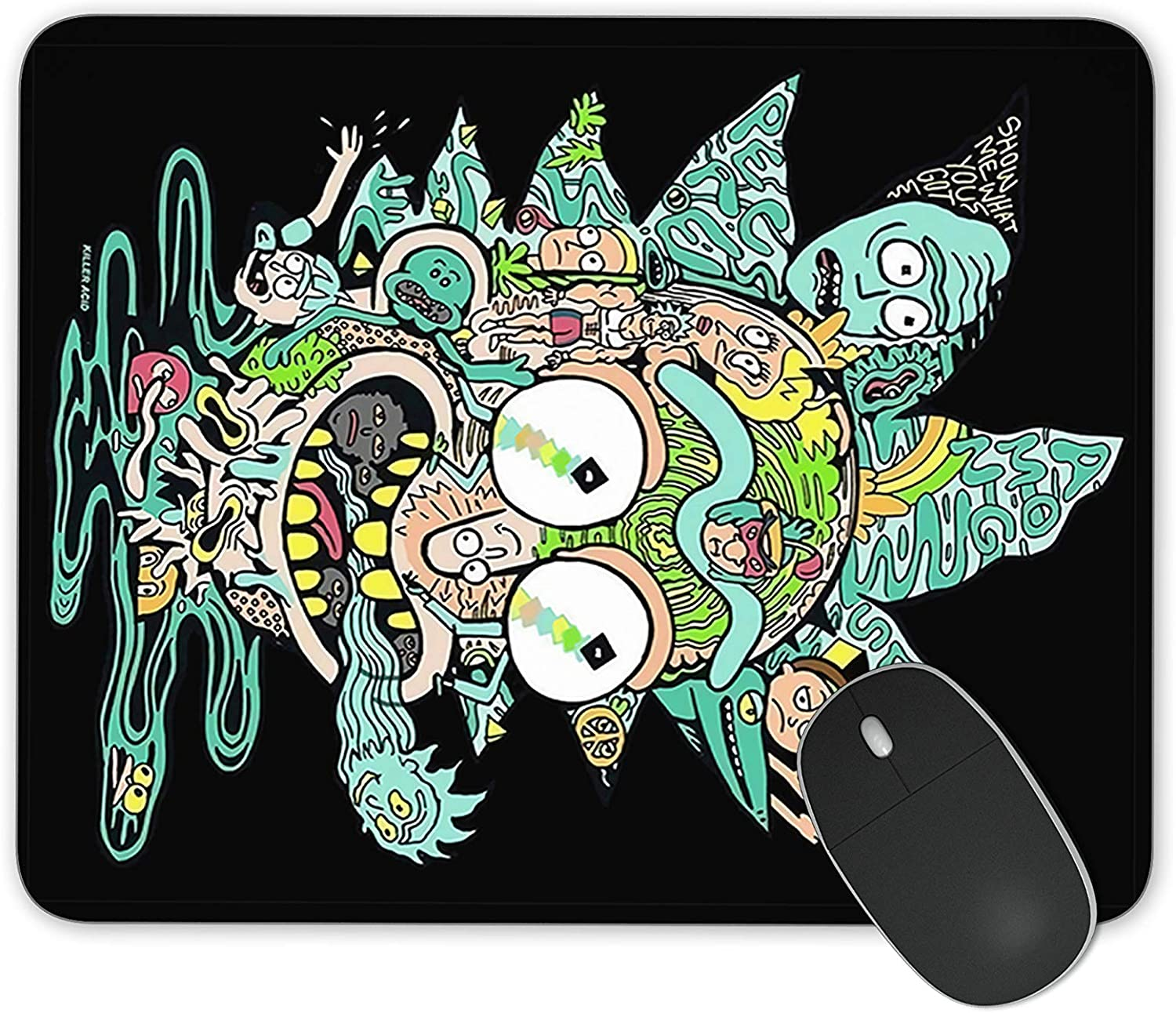 JNKPOAI Rick and Morty Series Game Mouse Pad Funny Rick and Morty Anti-Slip Mouse Pad Personalized The Officel Mouse Pad(Rick and Morty#1)